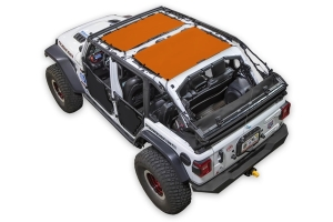 SpiderWebShade Front and Rear 2-Piece Shade Top - Orange - JL 4Dr
