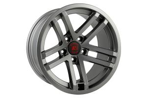 Rugged Ridge Jesse Spade Wheel Satin Gun Metal 17X9 5x5 (Part Number: )