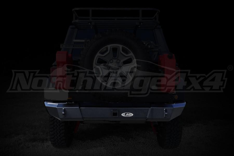 LOD Signature Series Rear Bumper w/NO Light Cutouts Black (Part Number:JRB0765)