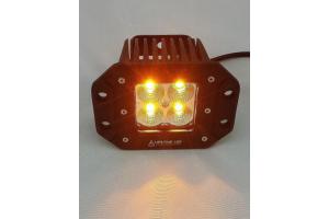 Lifetime LED 20W Off Road Lights Flush Mount 3in Amber/White
