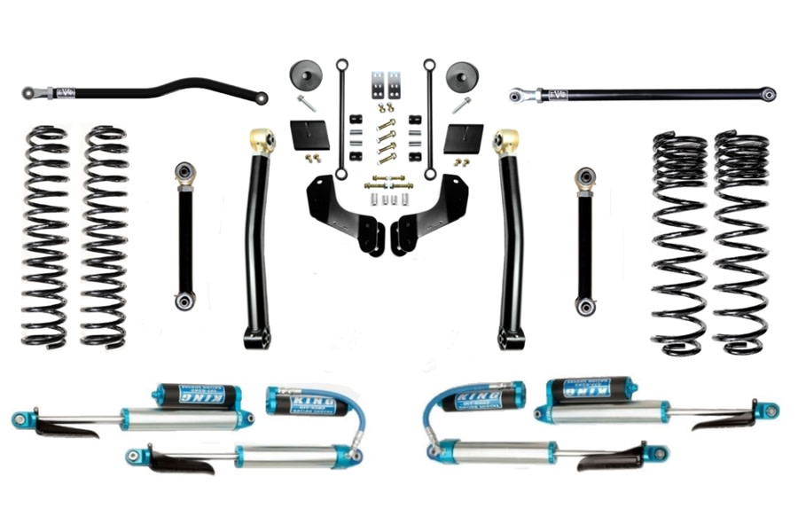 Evo Manufacturing 2.5in Enforcer Overland Stage 3 PLUS Lift Kit w/ Comp Adjusters - JT