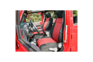 Rugged Ridge Neoprene Front Seat Covers, Black/Red  (Part Number: )