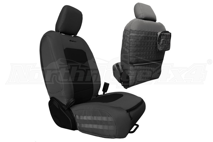 Bartact Tactical Front Seat Covers Graphite/Black (Part Number:JLTC2018FPGB)