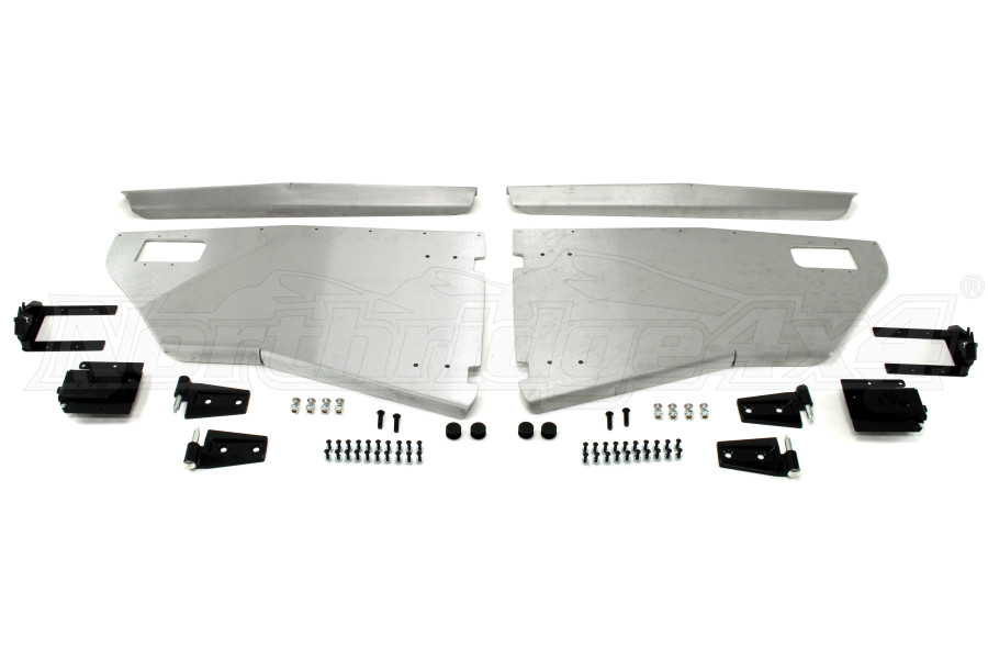 EVO Manufacturing Rear Half Door Sets Aluminum (Part Number:1161AL)