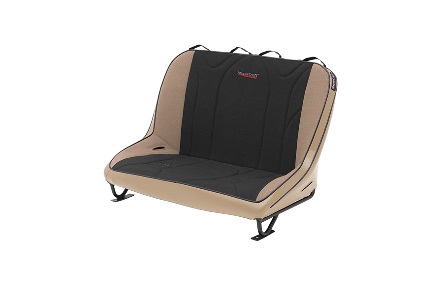 MasterCraft Rubicon Rear Bench Seat w/o Headrests Tan / Black (Part Number:310104)