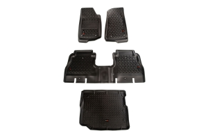 Rugged Ridge Floor Liner Kit, Black (Part Number: )