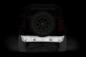 LOD Signature Series Shorty Rear Bumper w/ Light Provision Cutouts Bare Steel (Part Number: )