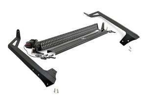 Rough Country Light Bar Upper Windshield Kit w/ 50in Black Series LED Light  - JK