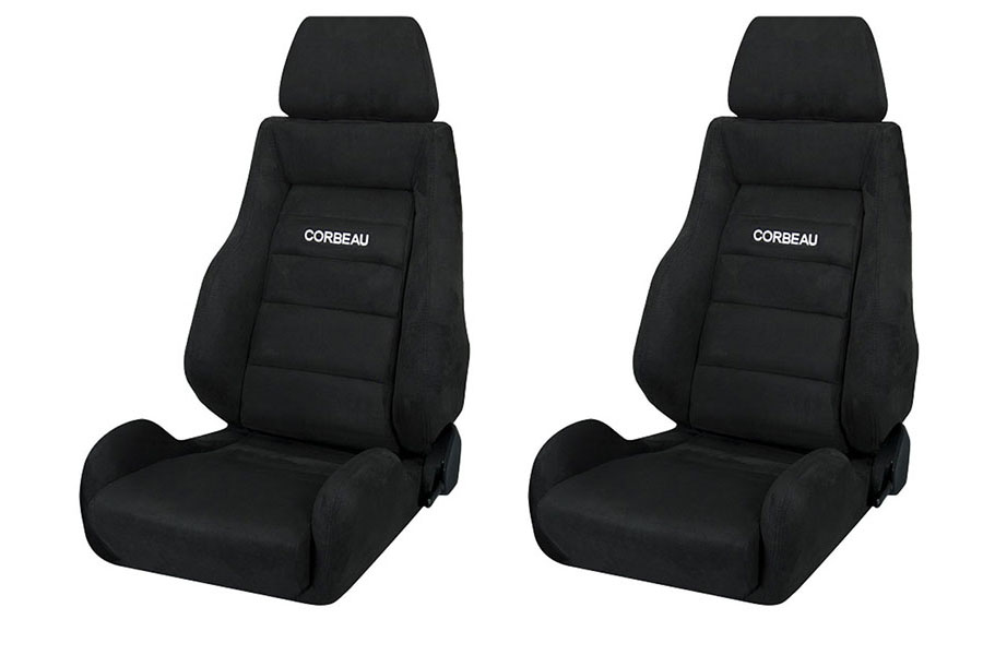 Corbeau GTS II Black Microsuede Seat Pair (Part Number:S20301PR)