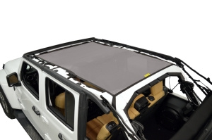 Dirty Dog 4x4 Sun Screen Safari length - Grey - JL 4DR