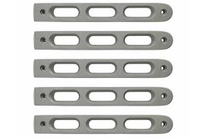 DV8 Offroad Silver Slot Style Door Handle Inserts, Set of 5 - JK 4dr