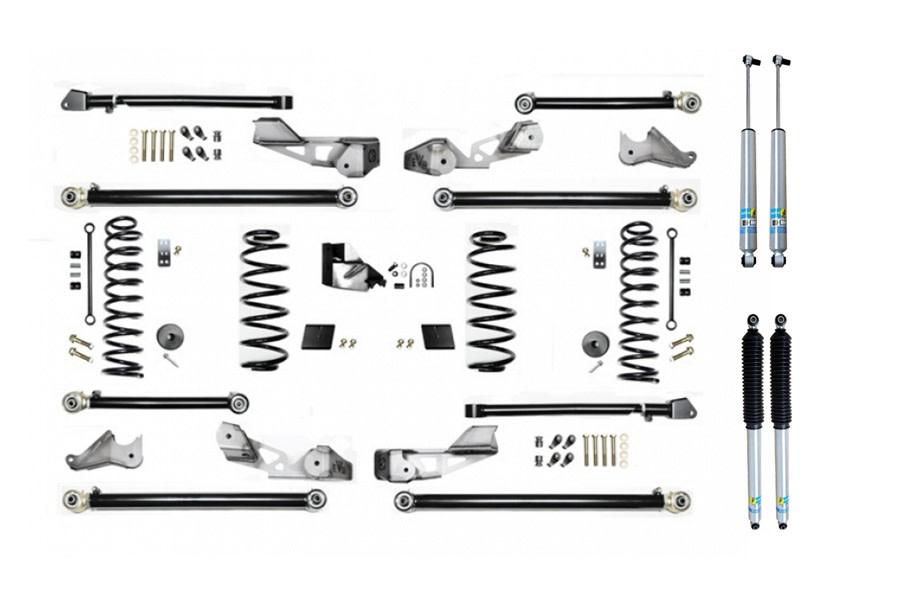 Evo Manufacturing 3.5in High Clearance Long Arm Lift Kit w/ Bilstein Shocks - JL 4Dr