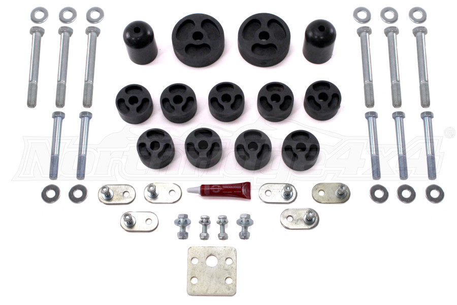 Daystar Body Mount Bushings Kit 1in Lift - TJ