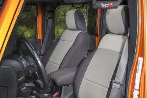 Rugged Ridge Seat Cover Kit Black/Grey (Part Number: )