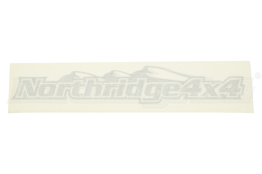 Northridge4x4 Sticker Silver 6.5in (Part Number:6.5SILVER)