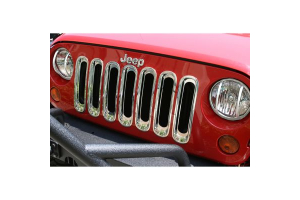 Rugged Ridge Grille Inserts Chrome (Part Number: )