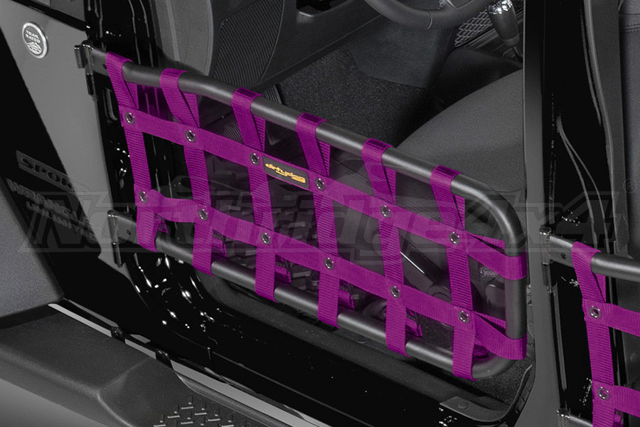 Dirty Dog 4X4 Olympic Front Tube Door Netting, Purple  - JK