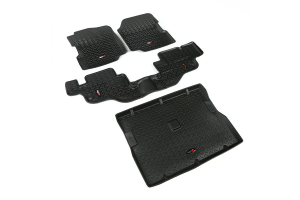 Rugged Ridge Floor Liner Kit, Black ( Part Number: 12988.09)