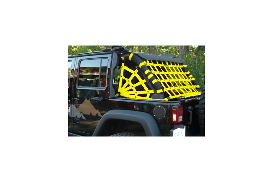 Dirty Dog 4x4 Rear Netting Yellow (Part Number:J4NN07RCYL)