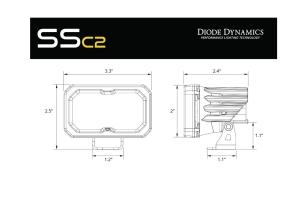 Diode Dynamics SSC2 2in Pro Standard Fog Light WBL, Pair