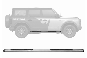 Go Rhino 5in OE Xtreme Low Profile Side Step Kit - Polished - Ford Bronco 4Dr