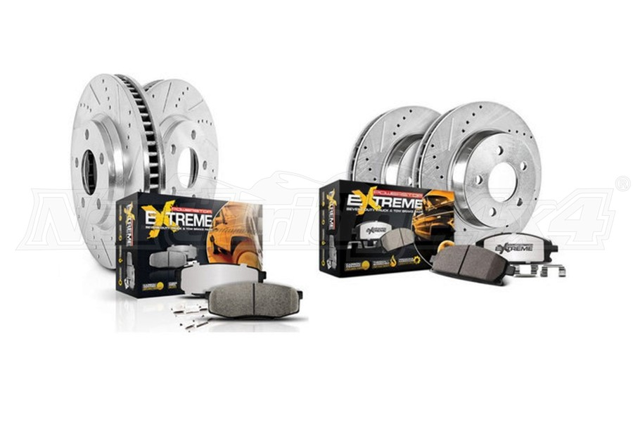 Power Stop Z36 Extreme Front and Rear Truck and Tow Brake Kit - JT/JL