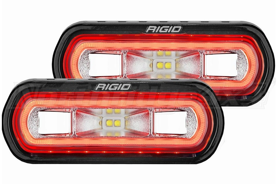 Rigid Industries SR-L Series Off-Road Spreader Lights, Red Halo - Pair