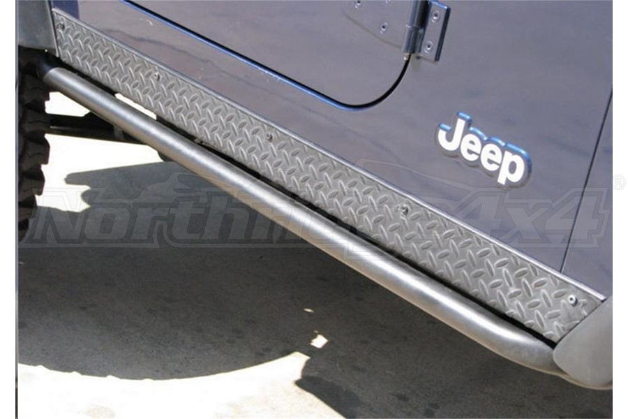 NFab Step System Rock Rails, Textured Black - JL 2dr