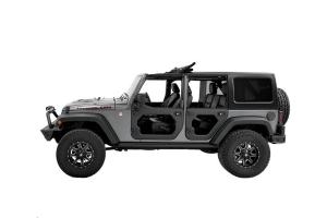 Bestop Front and Rear Core Door Bundle, Black Twill - JK 4dr