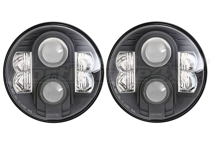 Pro Comp 7in LED Headlights (Part Number:76402P)