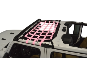 Dirty Dog 4x4 Front Seat Netting, Pink - JL 4Dr