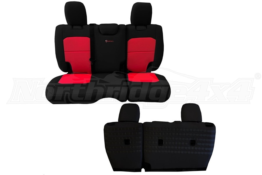 BARTACT Seat Cover Rear Black/Red (Part Number:JLSC2018R4BR)