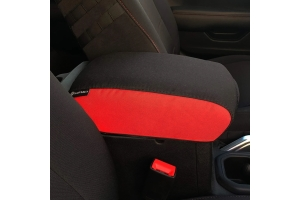 Bartact Padded Center Console Cover - Black/Red - JT