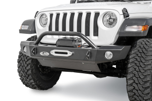 LOD Signature Series Mid Width Front Bumper without Bull Bar for Warn Power Plant Winch - JT/JL
