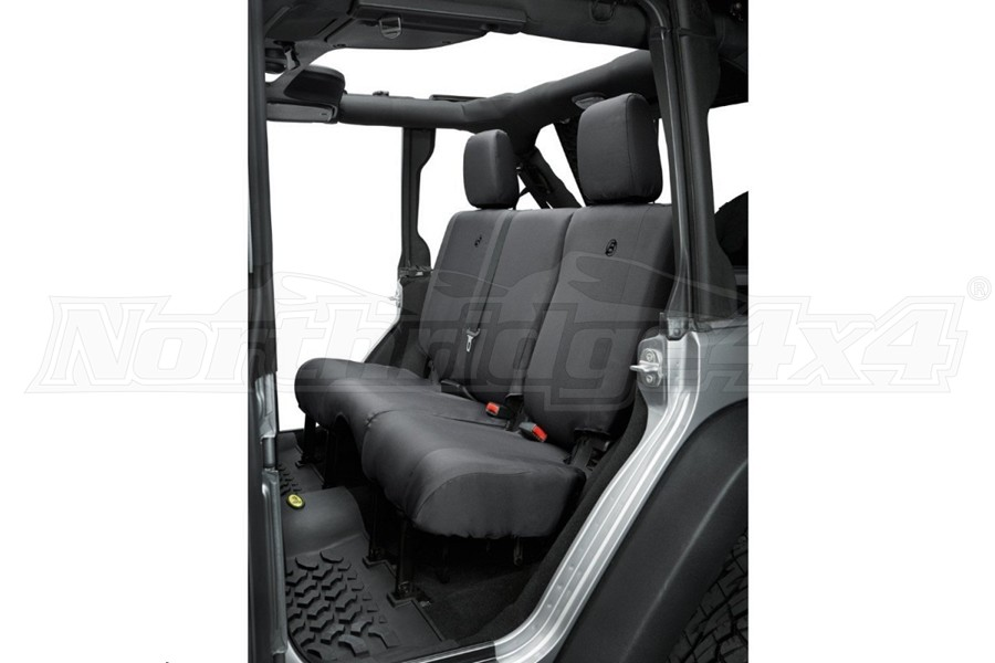 Bestop Rear Seat Covers w/o Armrest - Black Diamond - JL 4dr