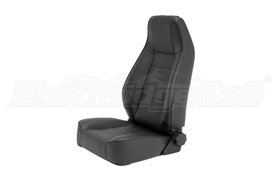 Smittybilt Factory Style Replacement Front Seat, Black Vinyl (Part Number:45001)