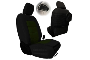 Bartact Tactical Series Front Seat Covers - Black/Olive Drab  - JL 2Dr