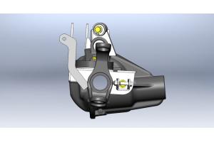 Clayton Front axle bracket kit W/adj track bar mount (Part Number: )