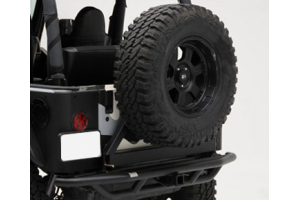 Smittybilt SRC Rear Bumper Hitch and Tire Carrier - TJ/LJ/YJ