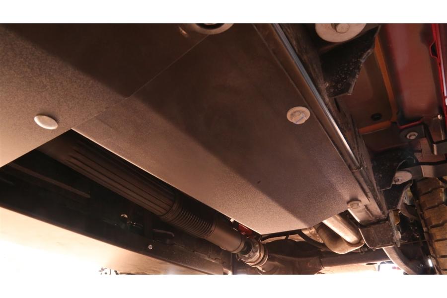 Rock Hard 4x4 Steel Resonator Skid Plate  - JL 3.6L