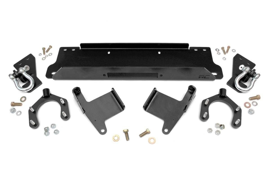 Rough Country Factory Bumper Winch Plate w/ D-Rings (Part Number:1173)