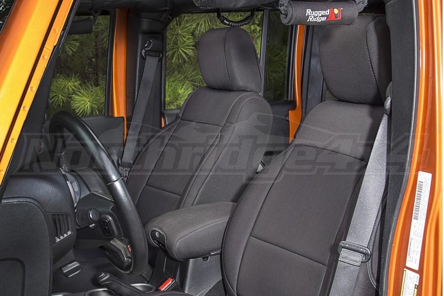 Rugged Ridge Seat Cover Kit Black - JK 2dr 2011+