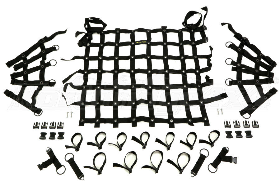 Dirty Dog 4x4 Spider Netting Rear Black  (Part Number:J4NN07RSBK)