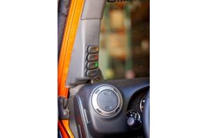 Rugged Ridge A-Piller 4 Switch Pod Black Left - JK 2011+