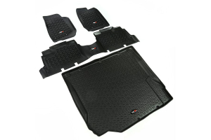 Rugged Ridge Floor Liner Kit, Black - JK 4DR