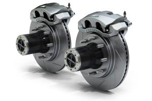 Teraflex JK Front 8-Lug Locking Hub Conversion Kit w/ Big Brakes Slotted Rotors (Part Number: )