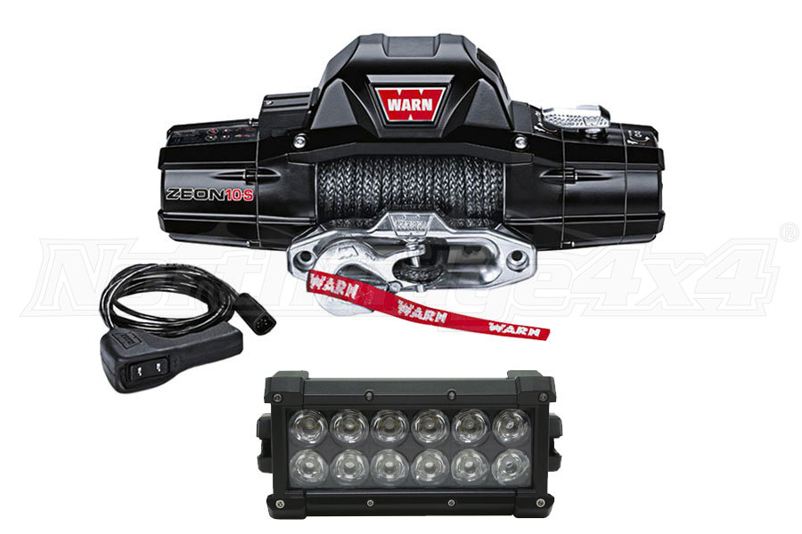 Warn Winch and 6in Light Bar Package ( Part Number: FREELIGHTPKG)