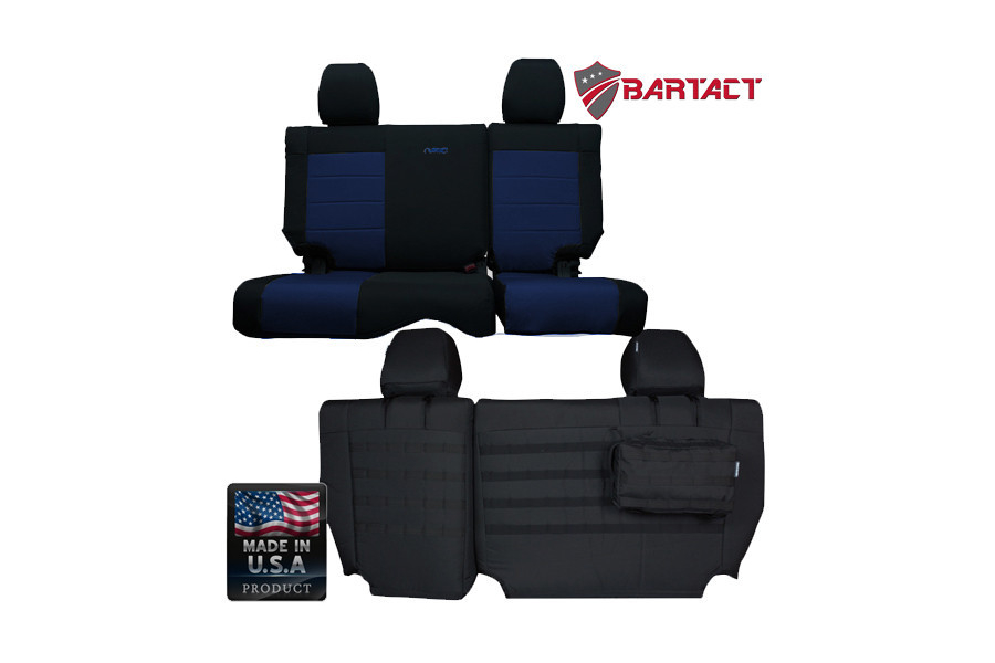 Bartact Rear Split Bench Seat Cover  (Part Number:JKSC0810R4B)