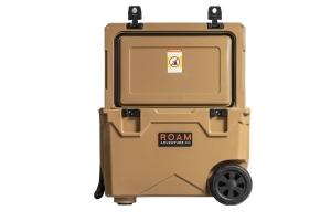 Roam Rolling Rugged Cooler, 50qt - Desert Tan
