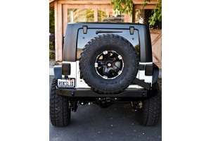 Rock-Slide Engineering Aluminum Rear Bumper w/Tire Carrier ( Part Number: RB-F-100-JKA)